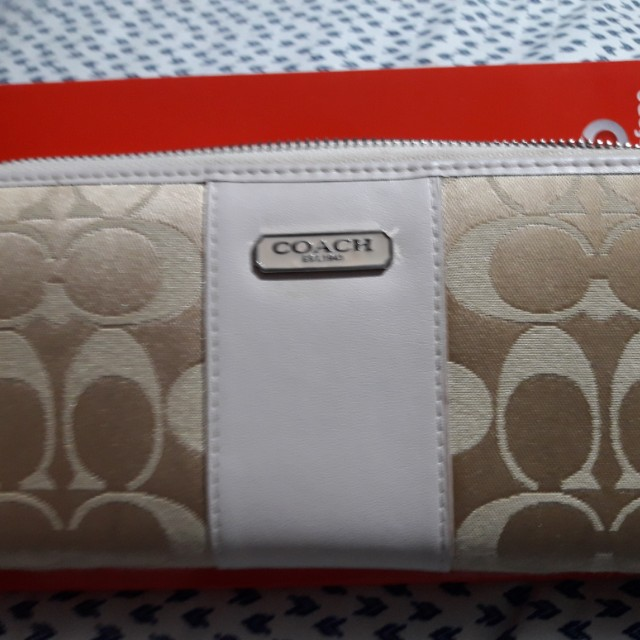 Authentic Coach Canvass Wallet