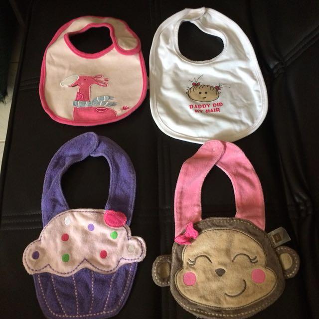 Baby bibs for Girls 4pcs