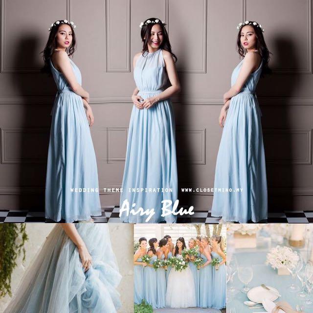 Baby blue maxi dress