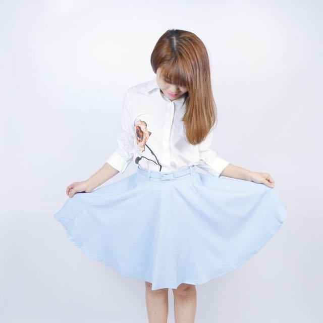 Baby blue skirts