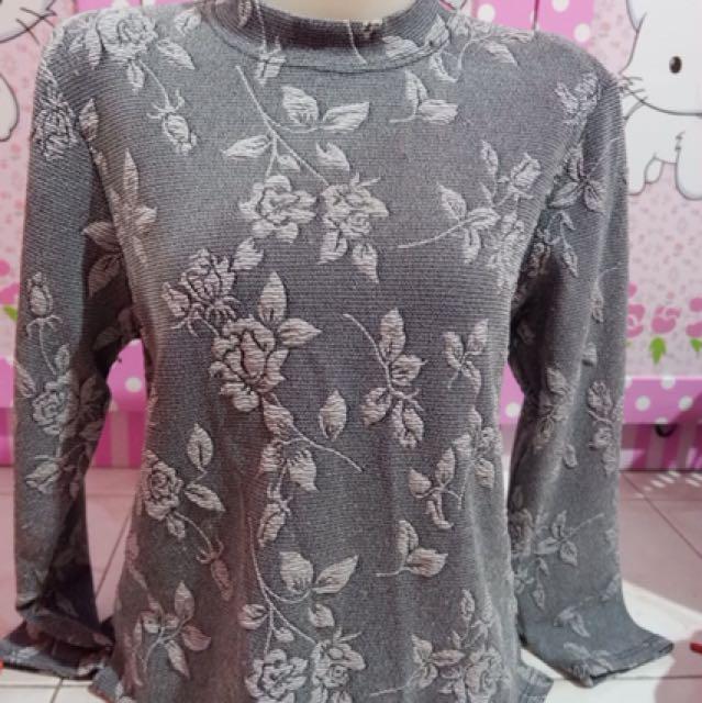 Baju blouse abu