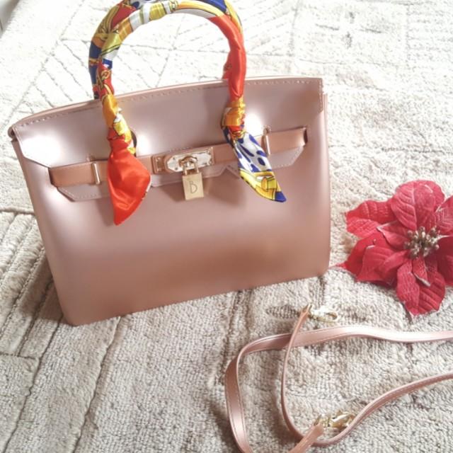 Beachkins bag matte in rosegold