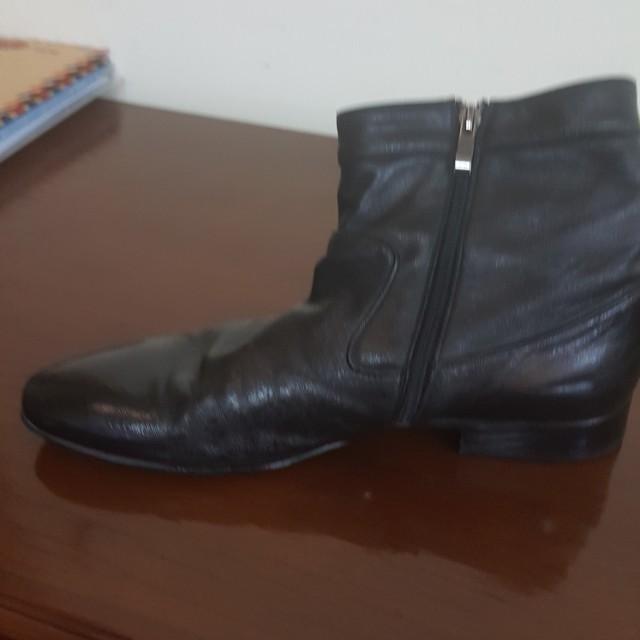 Belmondo branded shoes pantofel boots black leather sz.43