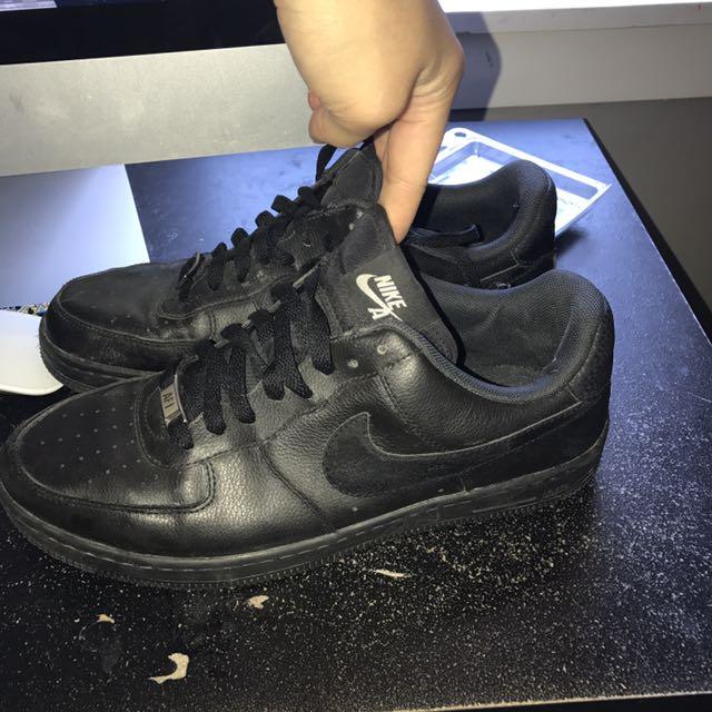 Black Nike Air Force 1's