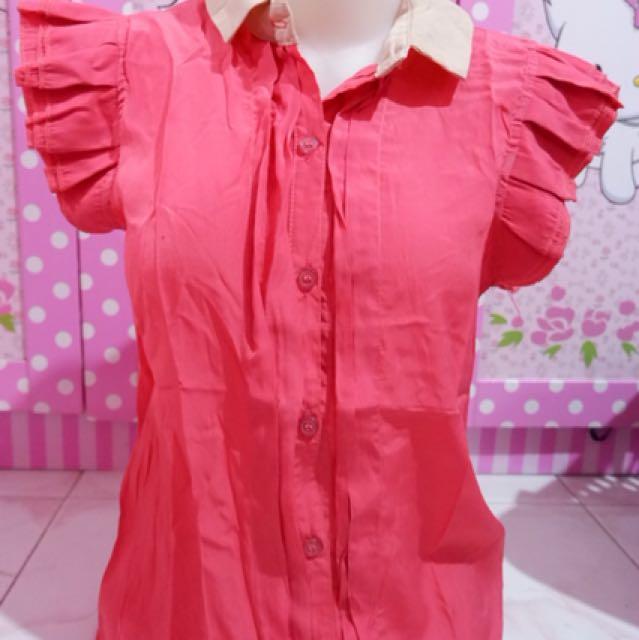 Blouse wanita pink
