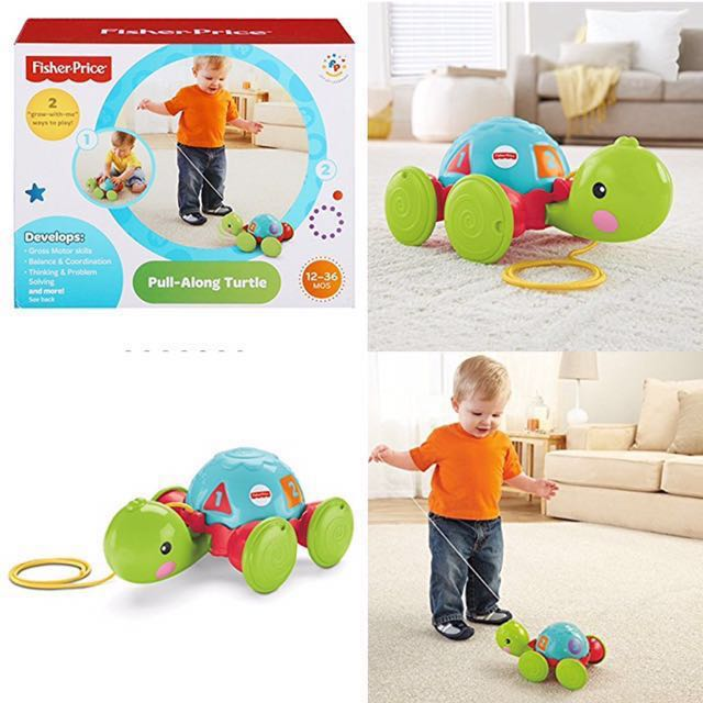 Bn Fisherprice Baby Pull Along Turtle 12mths Up Babies Kids
