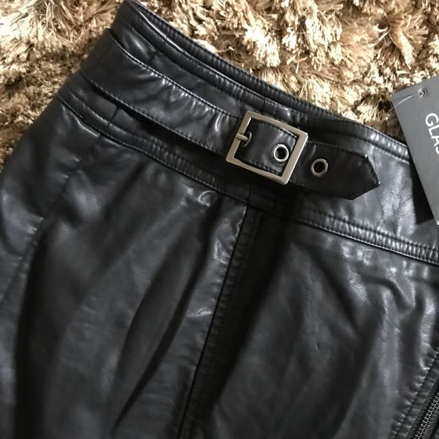 BNWT Glassons Faux leather skirt