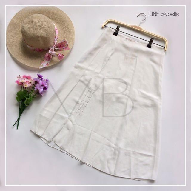 Bonina white skort midi