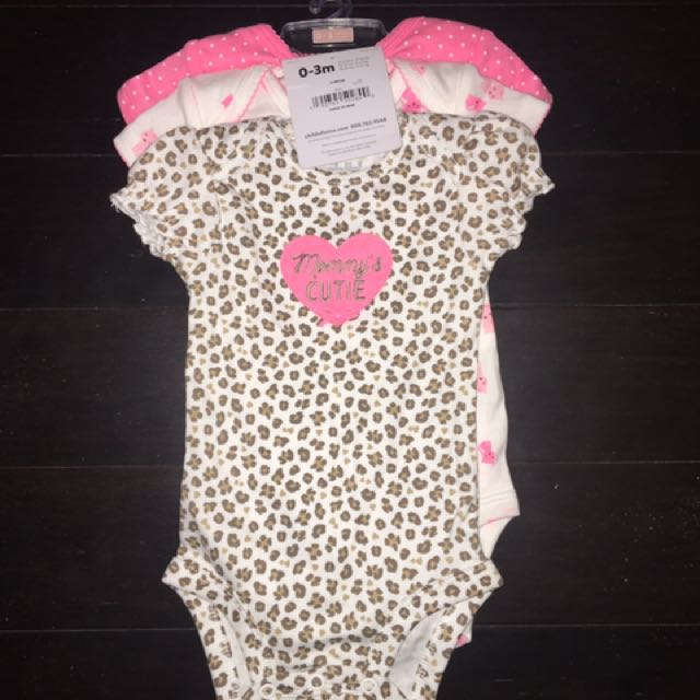 Brand New 3 pk. Body Suits  Size 0-3 Months