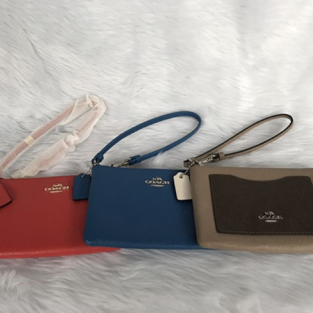 Brand New and Authentic Coach Wristlet with Detachable Strap