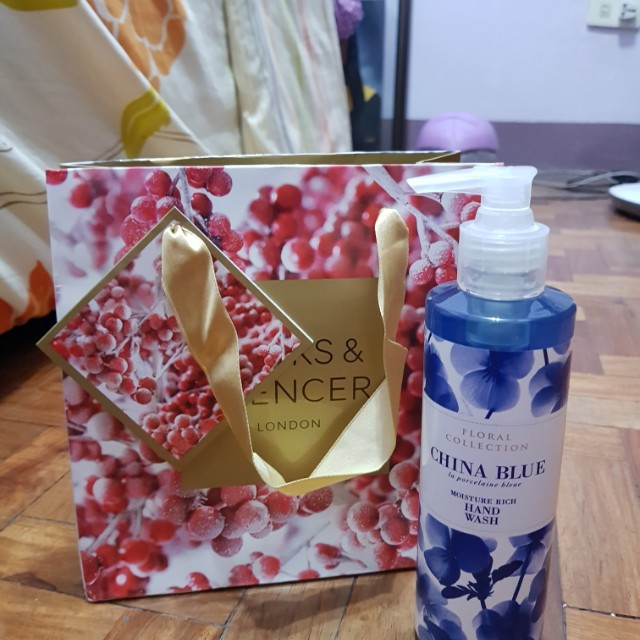 Brand New Authentic Marks & Spencer China Blue Hand Wash