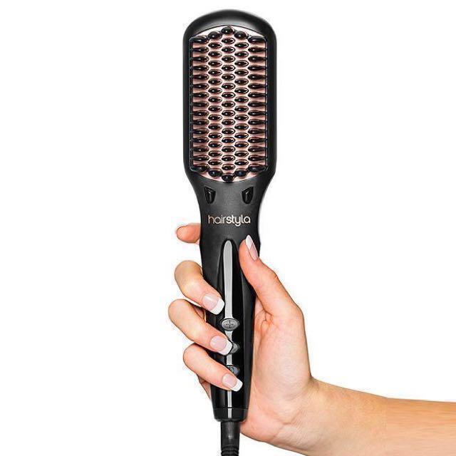 BRAND NEW HairStyla Brush Heated Straightening Brush