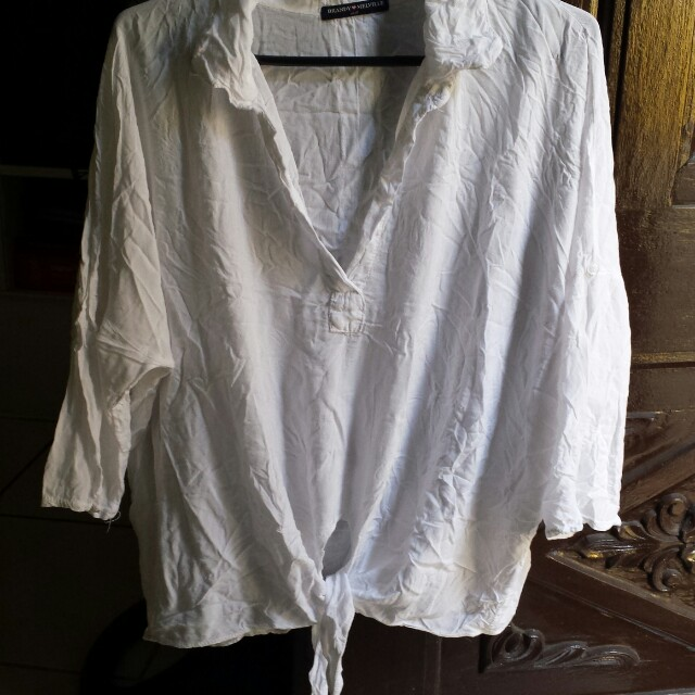 Brandy melville loose fit with tie top