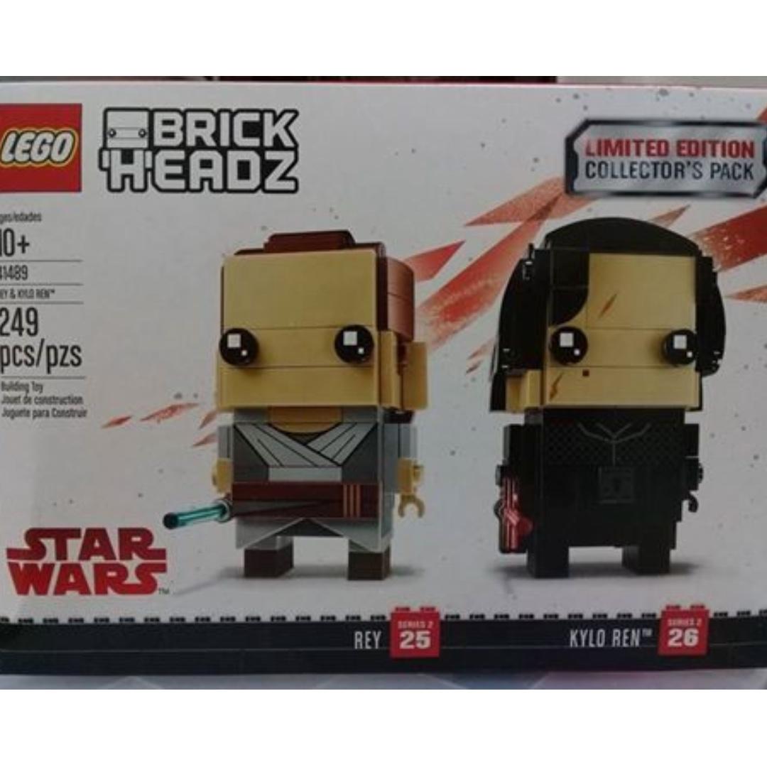 Brickheadz Rey and Kylo Ren