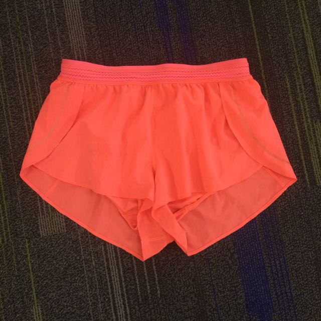 Bright pink Lululemon shorts