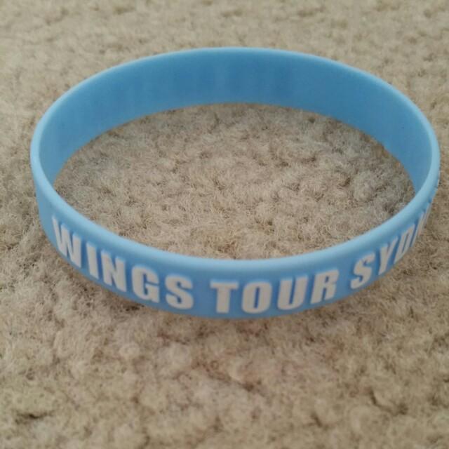 BTS Sydney Wings Tour bracelet