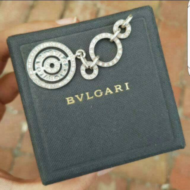 BVLGARI Sterling Silver & Cubic Pendant  Was a gift over 10 years ago! Looks gorgeous on a long chain