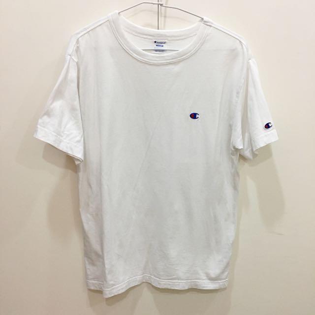 Champion白色短袖T恤