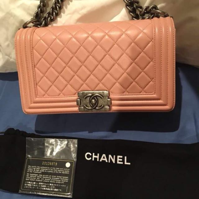 Chanel Le Boy Series 20 Guaranteed Authentic(Light Pink)