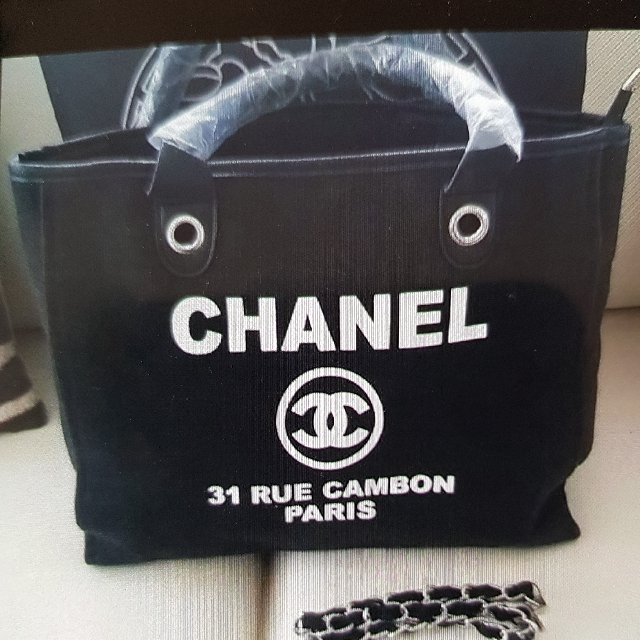 Chanel  Tote Bag Canvas New