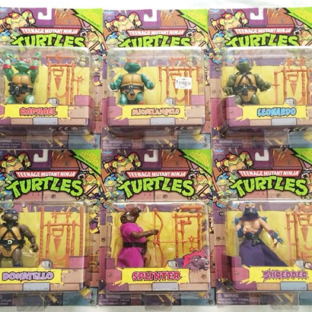 Classic 1988 TMNT Action Figures