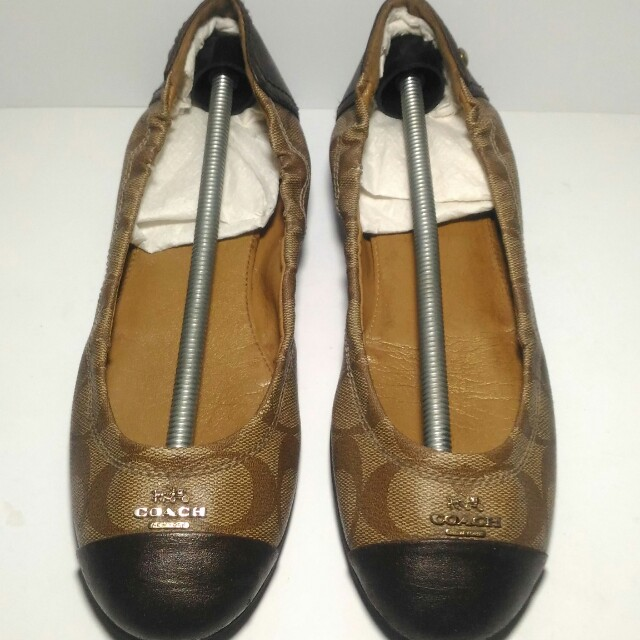 amazon authentic coach chelsea flat shoes fesyen wanita sepatu di carousell  fa157 77588 1476dc2a50