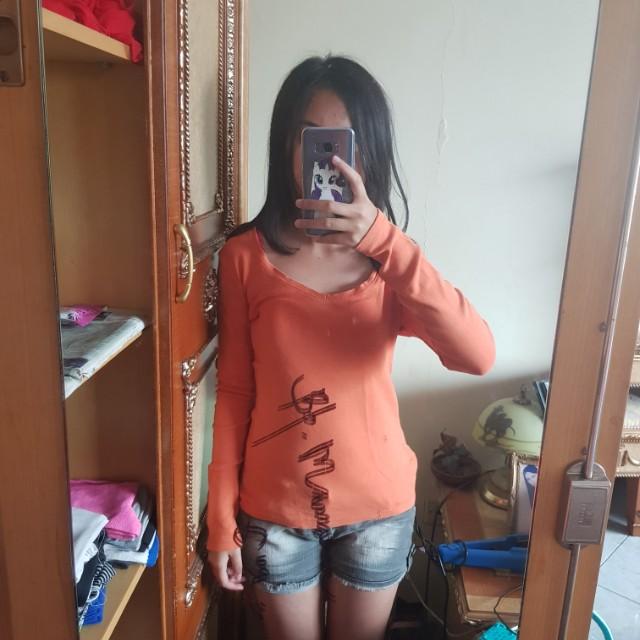 colorbox orange sweater