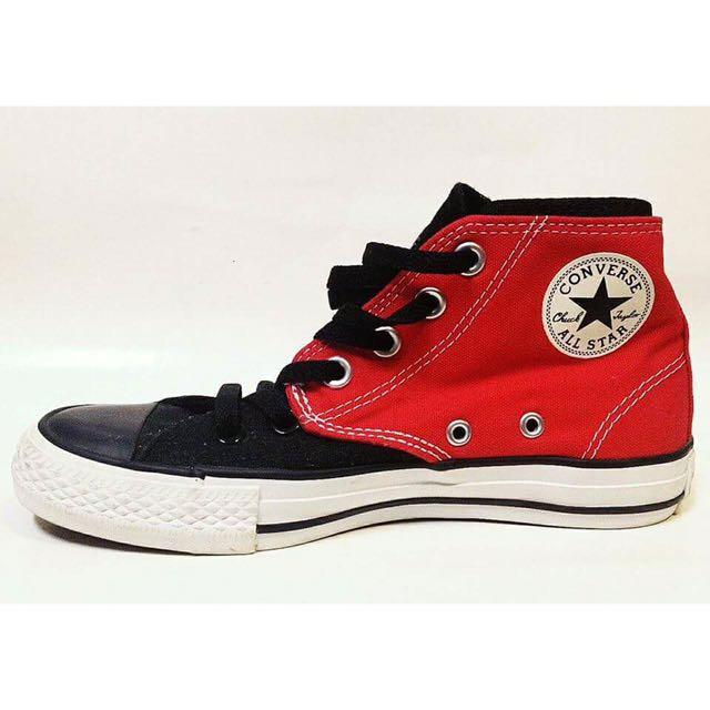 紅色Converse高筒帆布鞋 #我的女裝可超取