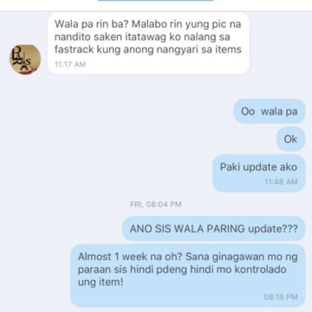 CONVO WITH SCAMMER