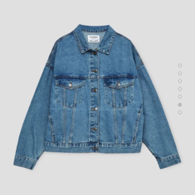 DICARI ‼️ Pull & bear oversized denim jacket