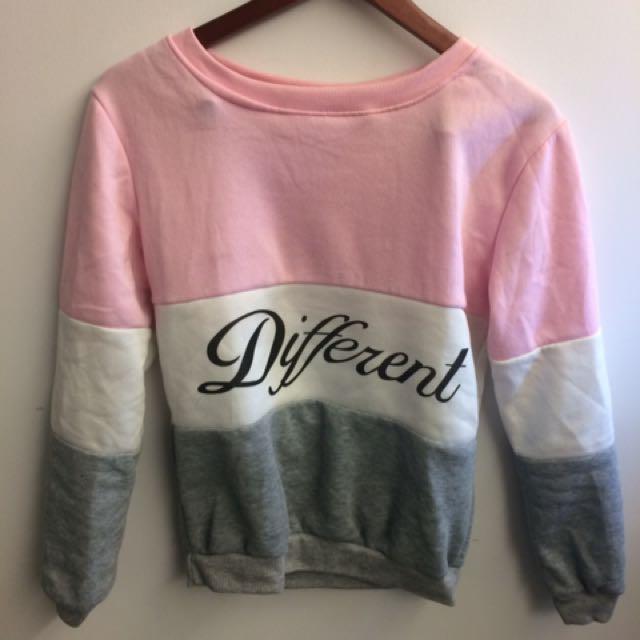 Different print sweater