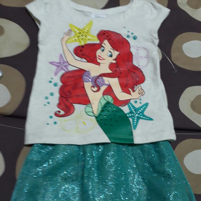 Disney Ariel blouse and skirt