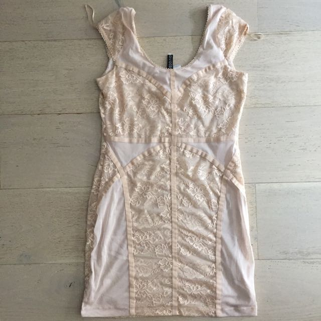 Divided by H&M Cream Lace Dress