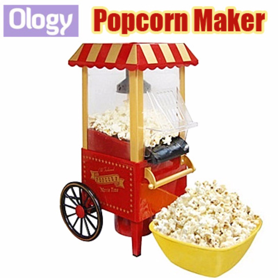 Electric Popcorn Maker Machine Cotton Candy Mini Home Appliance ...
