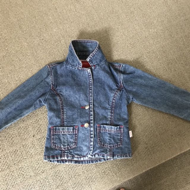 Esprit size 4 girls denim jacket