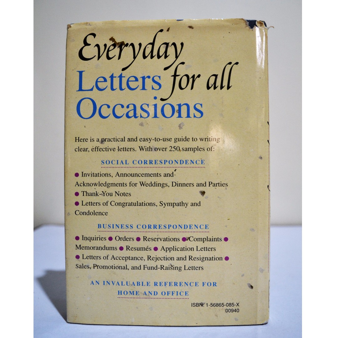 Everyday letters for all occasions by jack maguire hardbound everyday letters for all occasions by jack maguire hardbound books books on carousell expocarfo Image collections