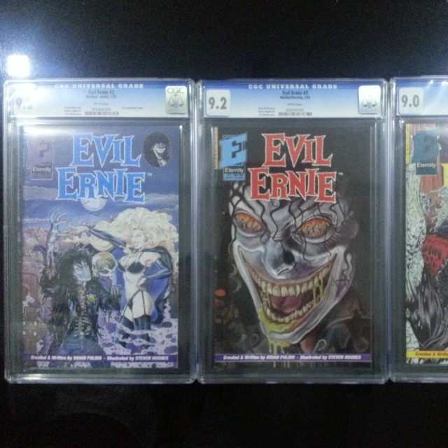 Evil Ernie 2,3,4, Eternity 1991, CGC Graded