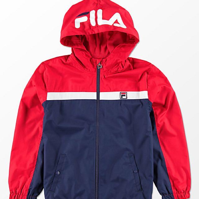 fila jacket womens red