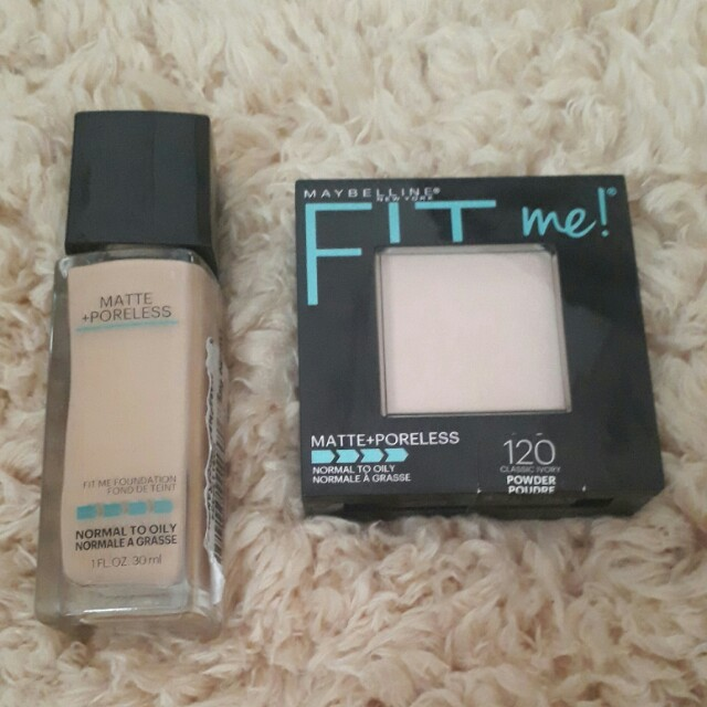 Fit me matte poreless foundation and fit me powder