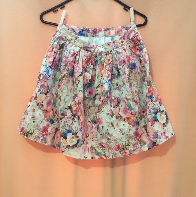 Forever New Floral Skirt Size 6