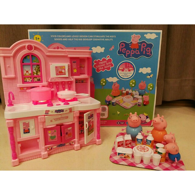 Free Delivery To Wm Only Ready Stock Kids Toy Peppa Pig Kitchen With Sound Music Set As Shown Design Color Free Delivery Applied For This