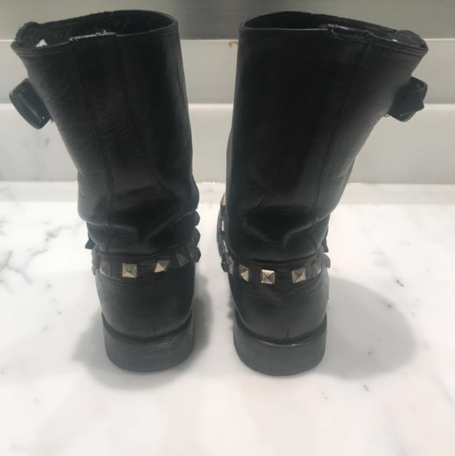 Frye studded motorcycle boots