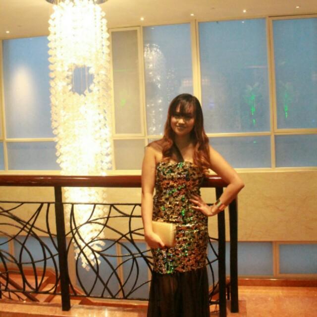 Gold & Black Serpentine/Mermaid Gown