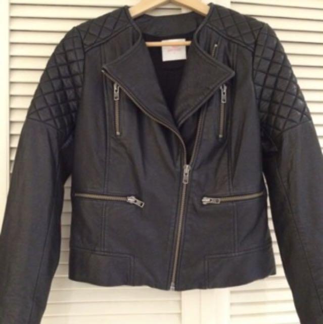 Gorman leather jacket size 10