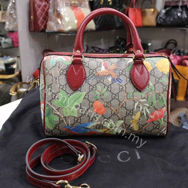 8cc84901e9c Gucci Tian GG Supreme Boston Bag Small