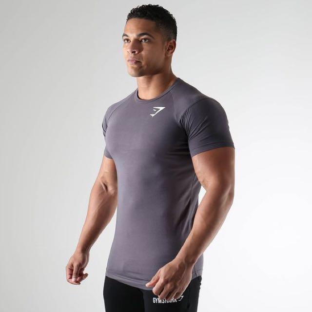 Gymshark T-shirt in charcoal marl