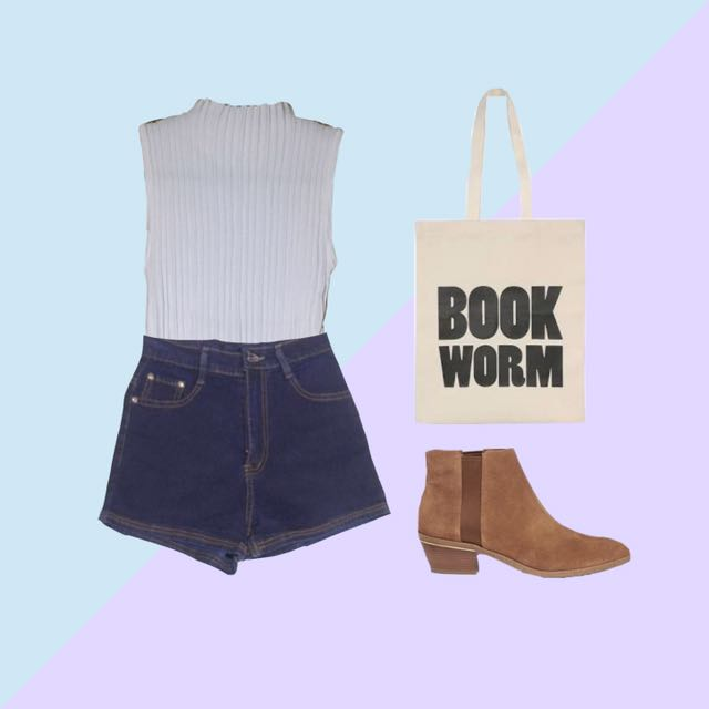 Halter top & HW shorts