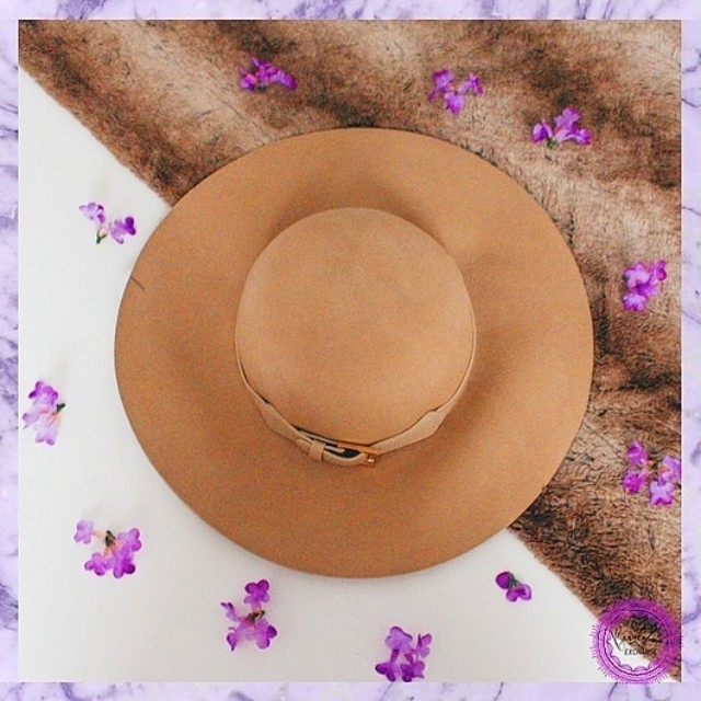 Hat with Gold Accent Belt