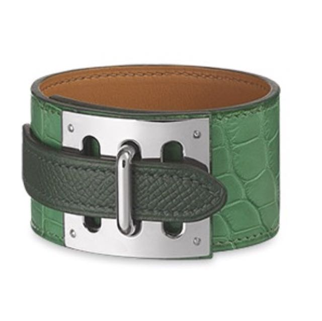 Hermes Intense Bracelet In Cactus Alligator Luxury Accessories On Carou
