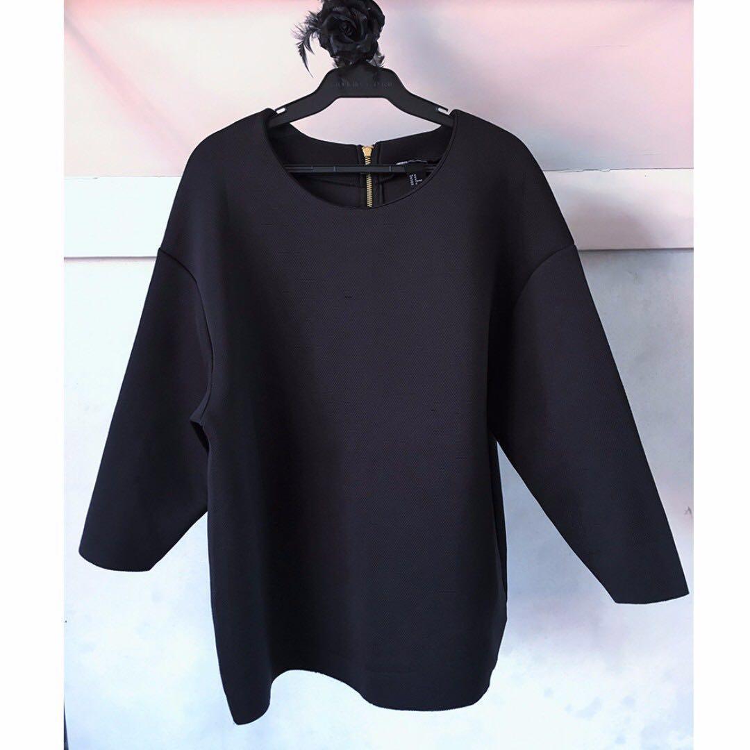 ❤️ SALE ❤️ H&M Black Neoprene Shirt